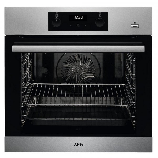 AEG BES255011M Built In Electric Single Oven - Stainless Steel - A