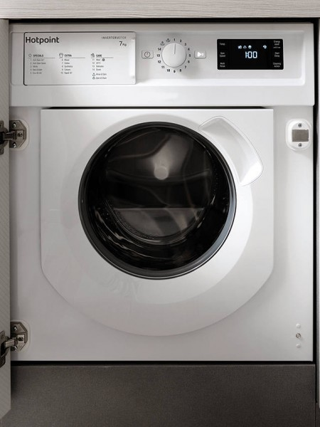 Hotpoint built in washer BIWMHG71483UKN 1400 rpm 7kg load