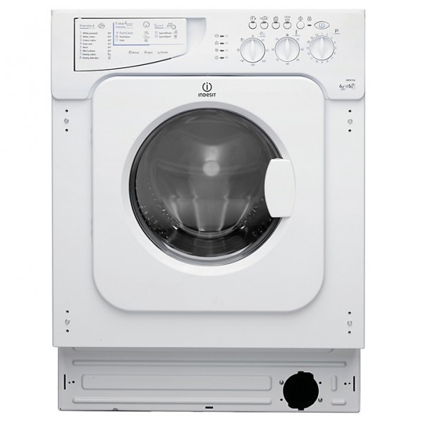 Indesit IWDE126 built in washer-dryer