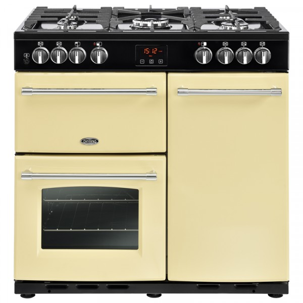 Belling Cream Range Cooker 90DFTCRM 444444123