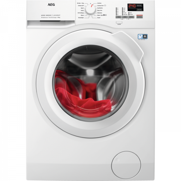 Aeg L6FBK841N 1400 Spin 8Kg Washer - Free 5 Year Warranty