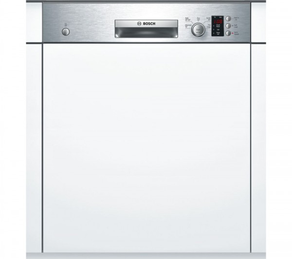 Bosch SMI50C15GB Semi-Integrated Dishwasher in Stainless Steel
