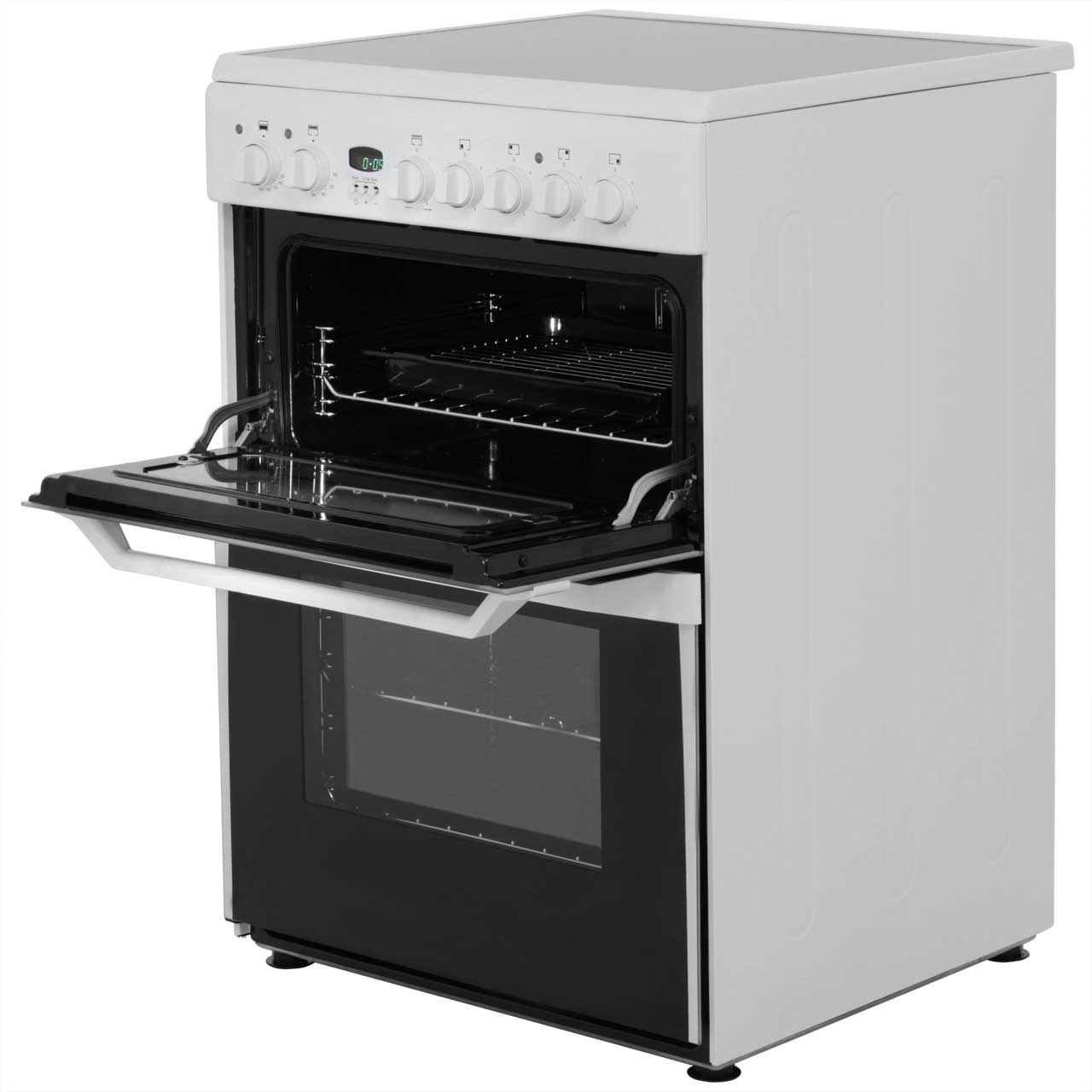 Indesit Id60c2ws 60cm White Double Oven Cooker Electric