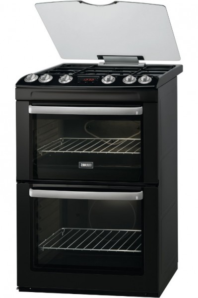 Zanussi ZCG664GNC 60cm Double Gas Cooker in Black