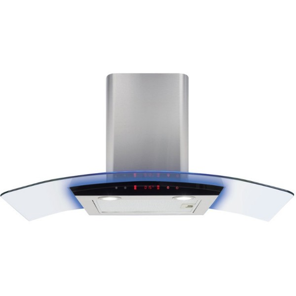 Cda EKP90SS 90cm Curved glass Cooker Hood with LED