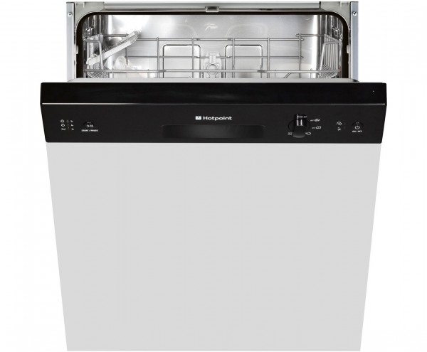 Hotpoint LSB5B019B Black Semi-Integrated Fullsize dishwasher