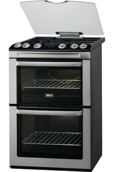 Zanussi ZCG664GXC 60cm Double Gas Cooker in Stainless Steel
