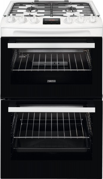 Zanussi ZCG43250WA 55cm Double Gas Cooker in White