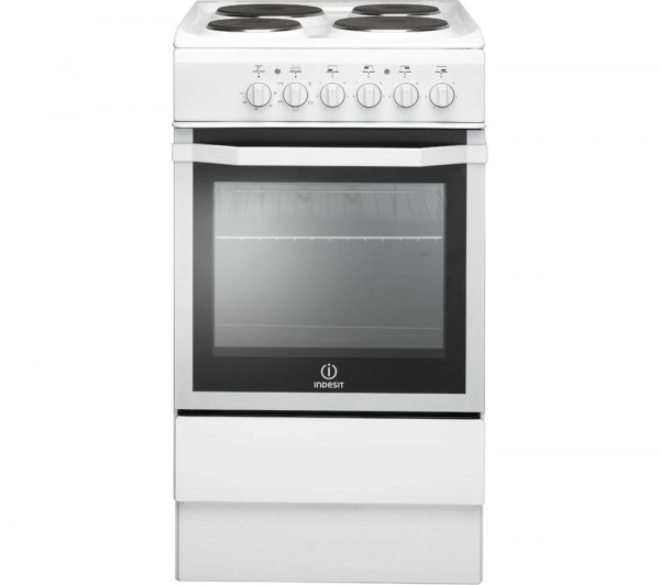 Indesit I5ESHW 50cm White Single oven Cooker