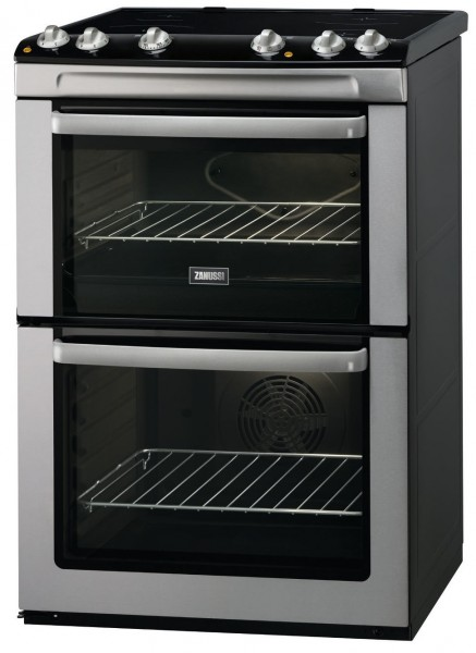Zanussi ZCV668MX 60cm Double Electric Cooker in Stainless Steel