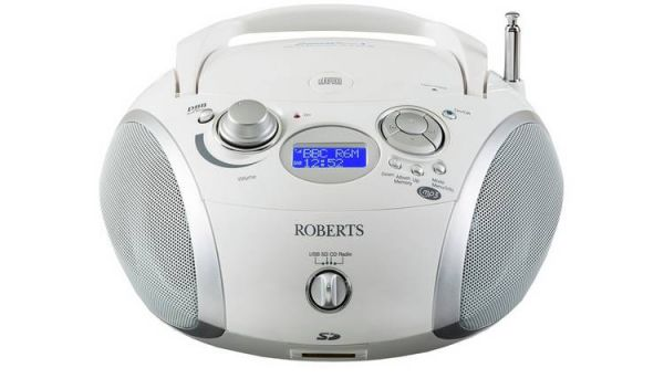 Roberts ZOOMBOX3 White Portable Cd player