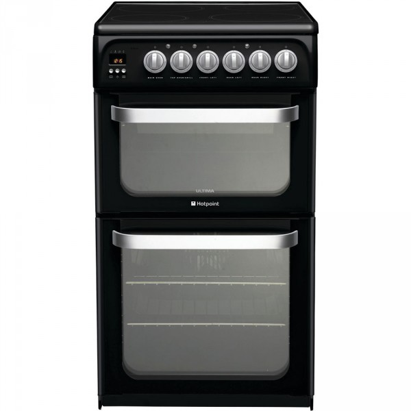 Hotpoint HUE52KS double cooker in Black