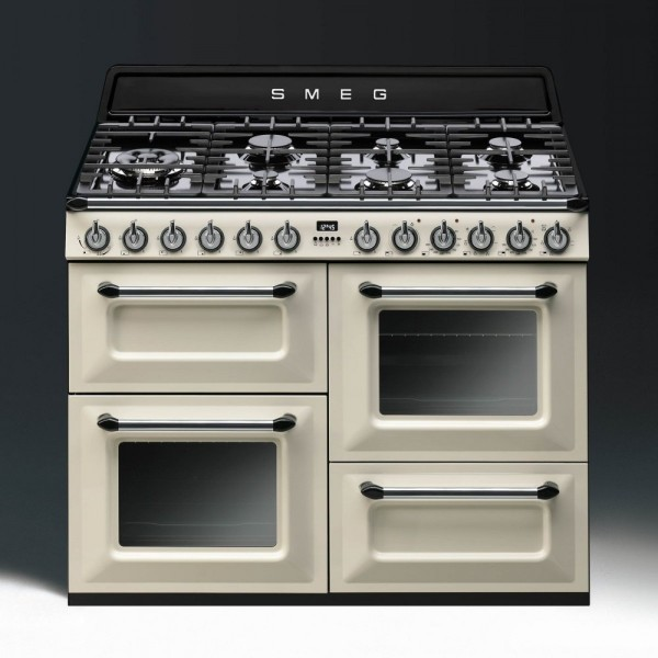 Smeg TR4110P1 Dual Fuel Range Cooker in Cream