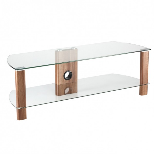 Alphason ADCE1200WAL 1200mm Century glass stand with Walnut
