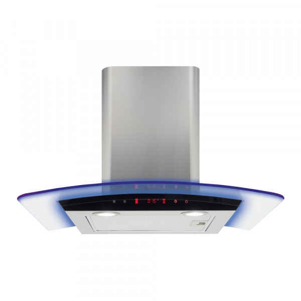Cda EKP60SS 60cm Curved glass Cooker Hood with LED