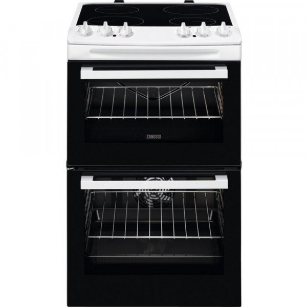 Zanussi ZCV46050WA 55cm Double Electric Cooker in White