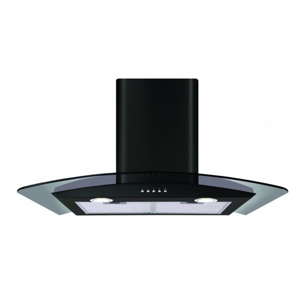 Cda ECP72BL 70cm Curved glass Cooker Hood