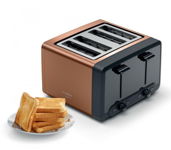 Bosch TAT4P449GB 4 Slice Copper Toaster