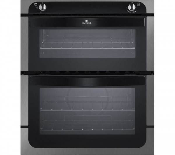 New World NW701GSS Built Under Gas Double Oven in Stainless Steel