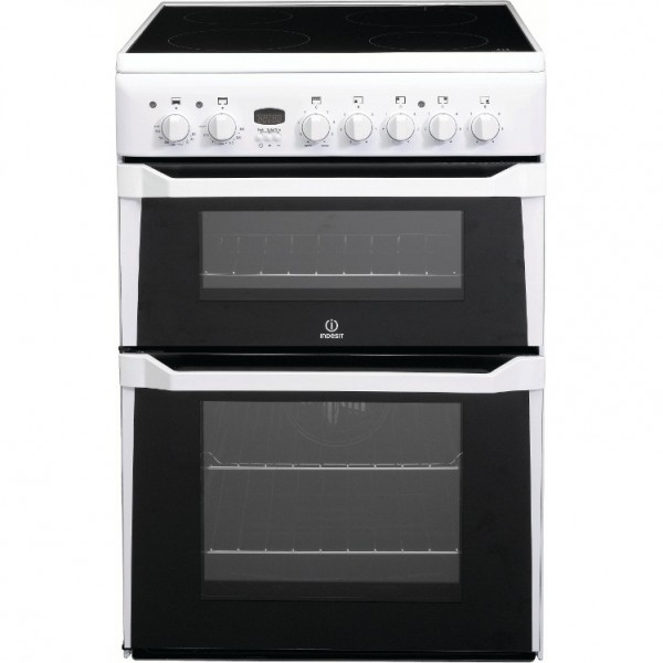 Indesit ID60C2WS 60cm White Double oven Cooker