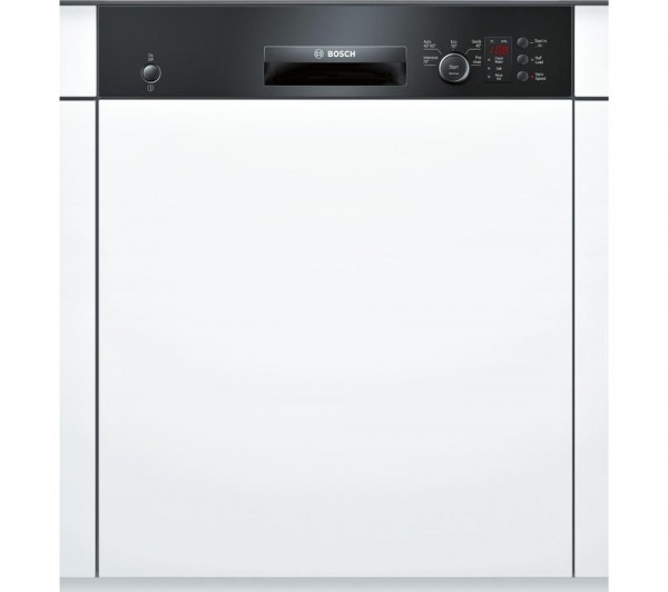 Bosch SMI50C16GB Semi-Integrated Dishwasher in Black