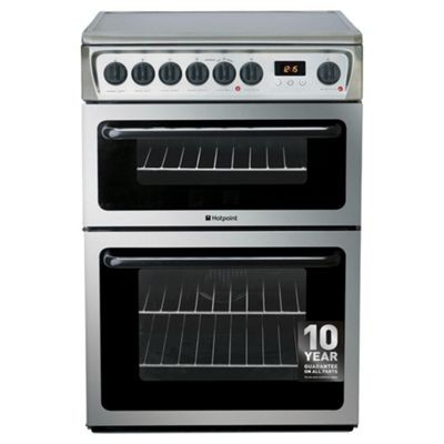 Hotpoint HAE60X 60cm Double electric cooker in Stainless Steel