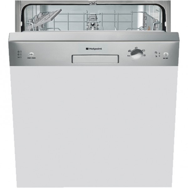 Hotpoint HBC2B19X Stainless Steel Semi-Integrated dishwasher