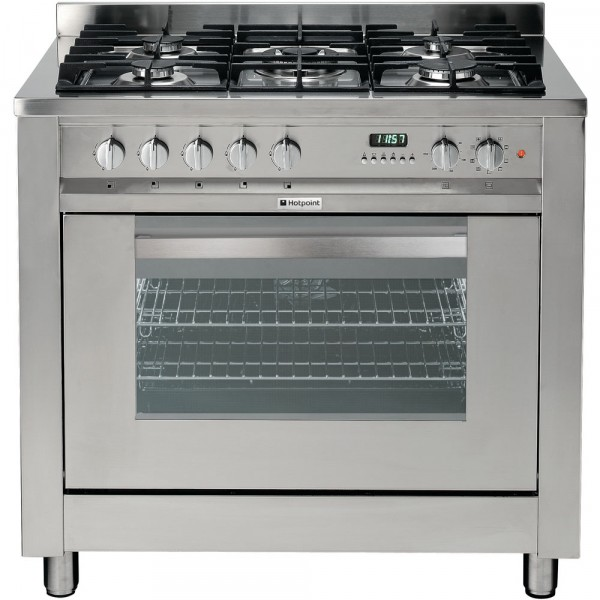 Hotpoint EG900XS Single Oven Dual Fuel Cooker In Stainless steel