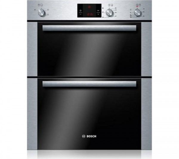 Bosch HBN13B251B Built under brushed steel double oven
