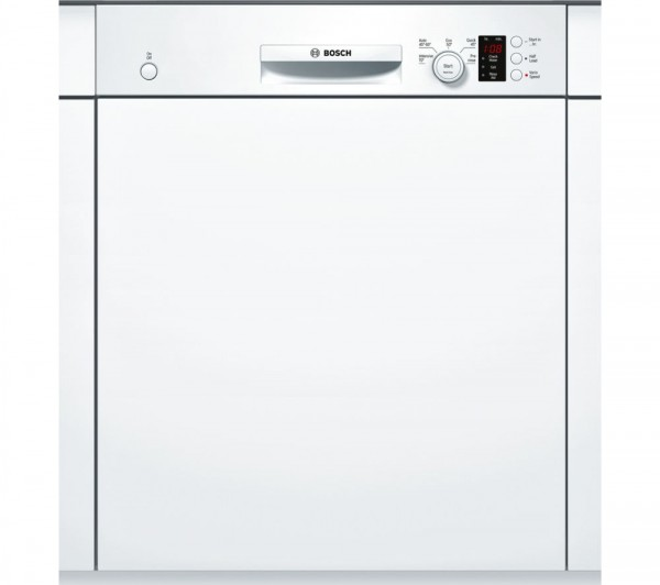 Bosch SMI50C12GB Semi-Integrated Dishwasher in white