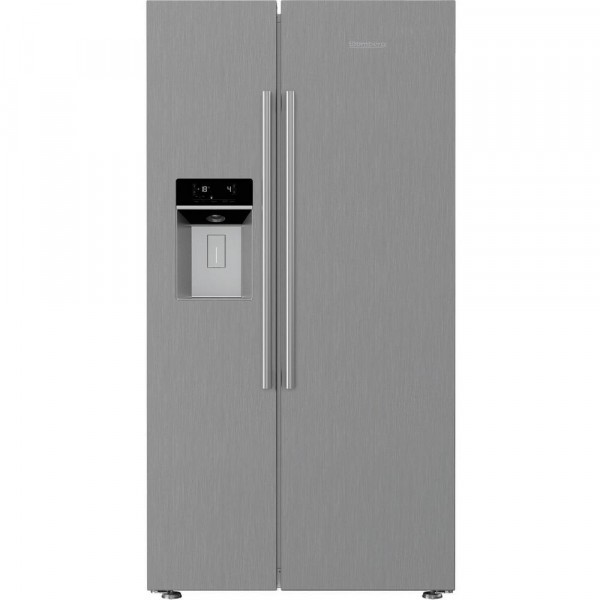 Blomberg KWD253PX Frost Free Side by Side in Stainless Steel