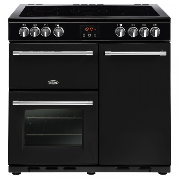 Belling Farmhouse 90E Electric Range Cooker in Black