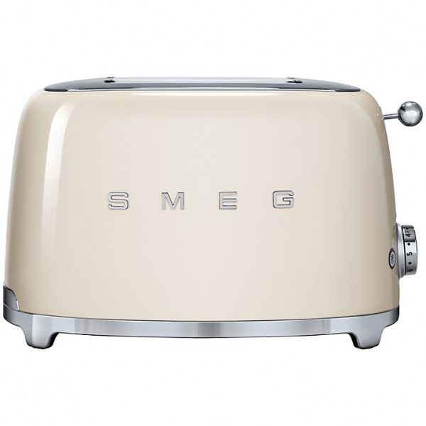 Smeg TSF01CRUK 2 slice retro style toaster in cream