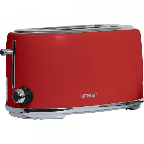 Linsar KY832RED 4 slice toaster in Red