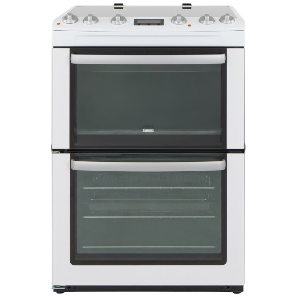 Zanussi ZCV667MWC 60cm Double Electric Cooker in White