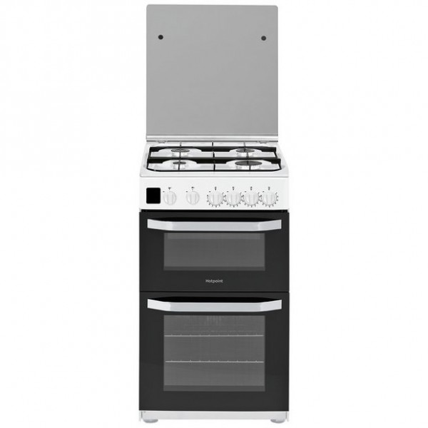 Hotpoint HD5G00CCW White 50cm double Gas cooker