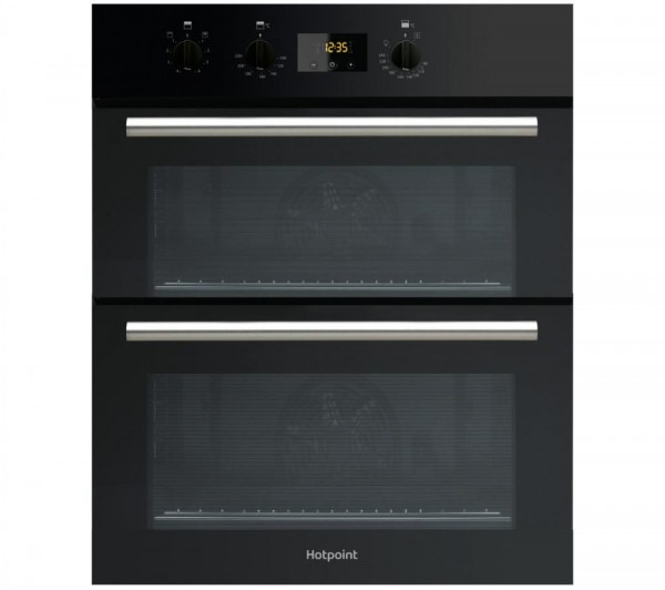 Hotpoint DU2540BL Built under black double oven