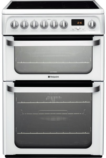 Hotpoint HUE62PS 60cm Double electric cooker in white