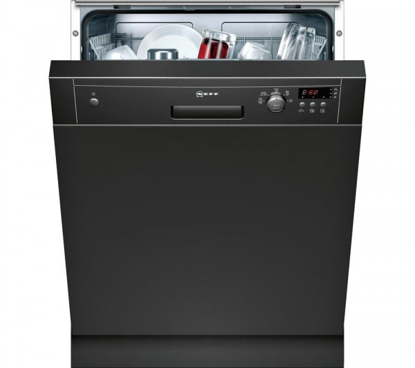 Neff S41E50S1GB Semi-Integrated Dishwasher in Black