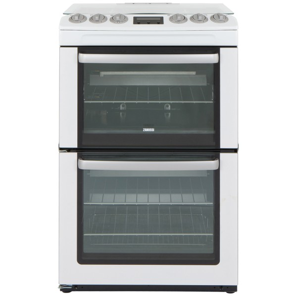 Zanussi ZCG552GWC 55cm Double Gas Cooker in White