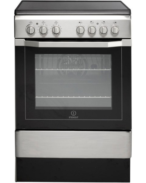 Indesit I6VV2AX 60cm White Single oven Cooker