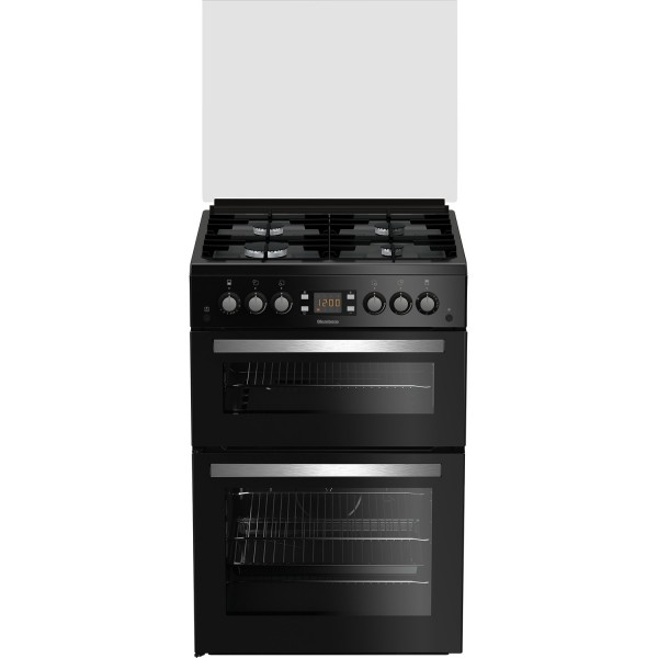 Blomberg GGN64Z Black gas 60cm double cooker