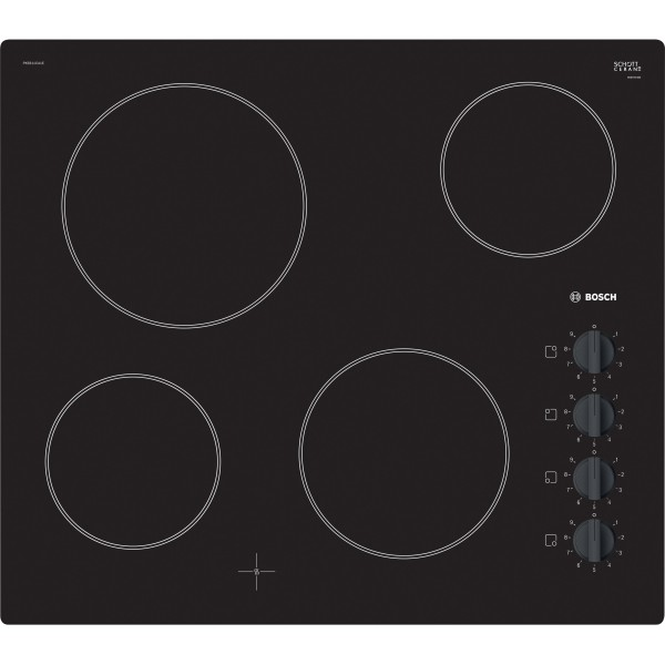 Bosch PKE611CA1E Ceramic Hob in Black Glass