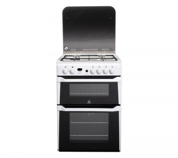 Indesit ID60G2W 60cm White Double oven Gas Cooker