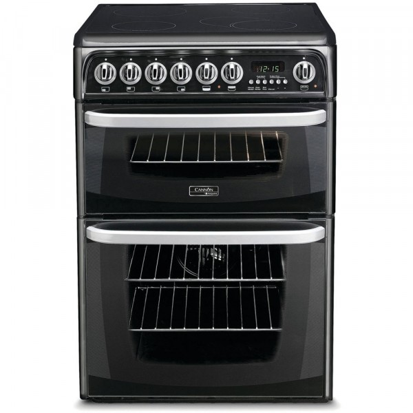 Cannon CH60EKKS Kendal Double Electric Cooker In Black