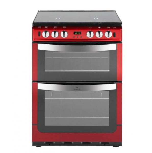 New World NW601GTCLM 60cm Twin Cavity gas cooker in Red