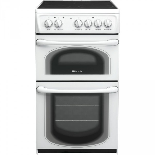 Hotpoint 50HEPS 50cm electric double oven in white