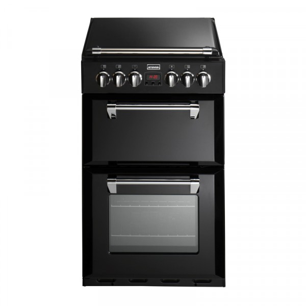 Stoves ST 550DFW 55cm Dual Fuel cooker in Black