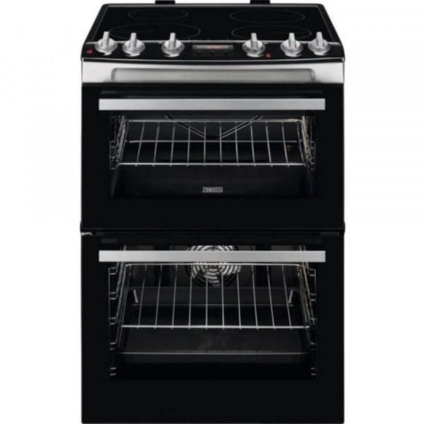 Zanussi ZCI66278XA 60cm Double Electric Cooker with Induction Hob