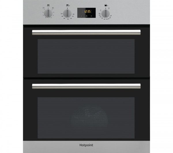 Hotpoint DU2540IX Built under black Inox oven